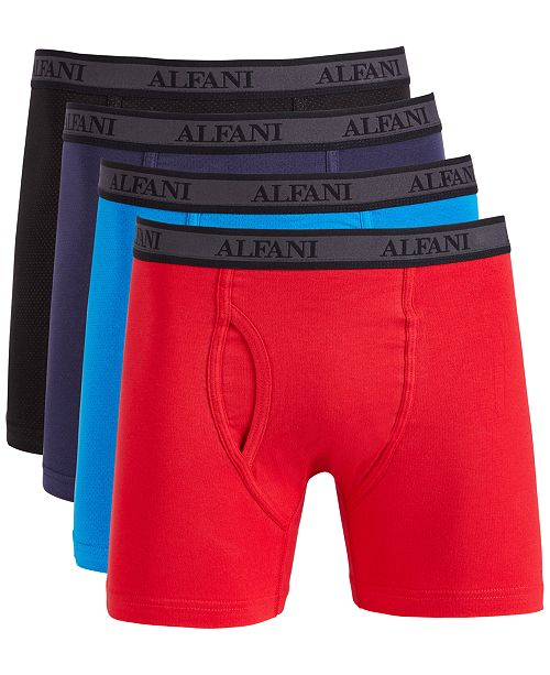 Alfani Men S 4 Pk Mesh Boxer Briefs Created For Macy