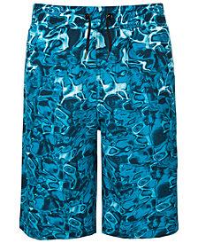 Ideology Big Boys Ocean-Print Swim Trunks, Created for Macy's