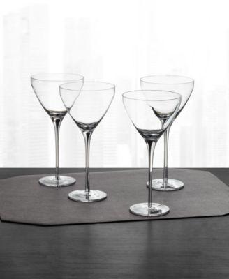 Black Stem Martini Glasses, Set of 4, Created for Macy's
