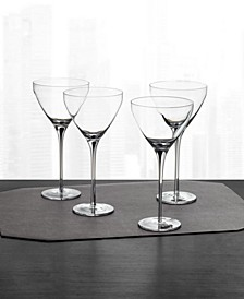 Black Stem Martini Glasses, Set of 4, Created for Macy's