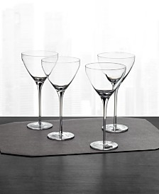 Hotel Collection Black Stem Martini Glasses, Set of 4, Created for Macy's
