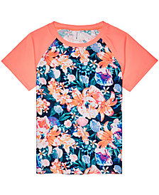 Ideology Big Girls Floral-Print Rash Guard, Created for Macy's