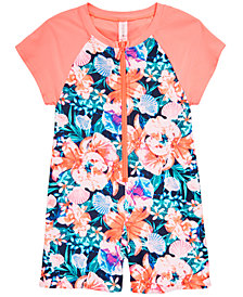 Ideology Little Girls 1-Pc Rash Guard Swimsuit, Created for Macy's
