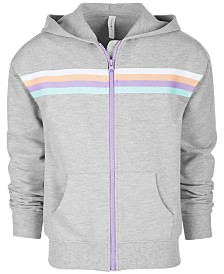Ideology Big Girls Plus Striped Zip-Up Hoodie, Created for Macy's
