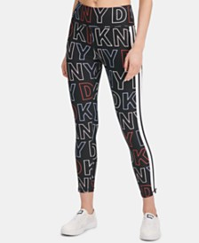 DKNY Sport Logo-Print Ankle Leggings, Created for Macy's