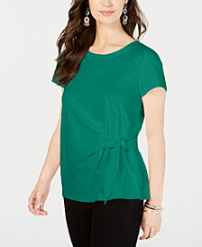 Style & Co Side-Tie Top, Created for Macy's