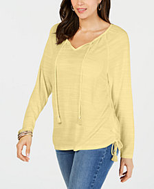 Style & Co Tie-Neck Top, Created for Macy's