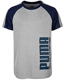 Puma Big Boys Performance Logo Graphic T-Shirt