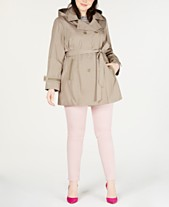 9cb9e1a5270 Celebrity Pink Trendy Plus Size Hooded Trench Coat