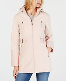 Nautica Hooded Water Resistant Raincoat