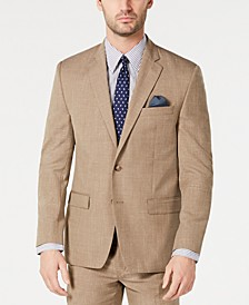 Men's Classic-Fit UltraFlex Stretch Light Brown Textured Suit Jacket
