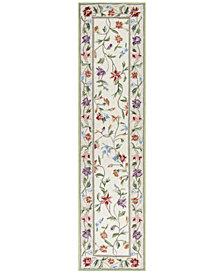 KAS Colonial Vine 1707 Ivory 2' x 8' Runner Area Rug