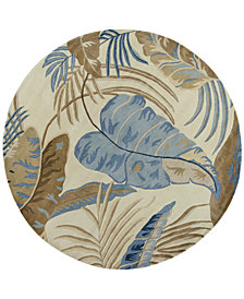 "KAS Havana Rainforest 7'6"" Round Area Rug"