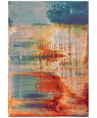 "Illusions Luminous 6204 Multi 3'3"" x 4'11"" Area Rug"