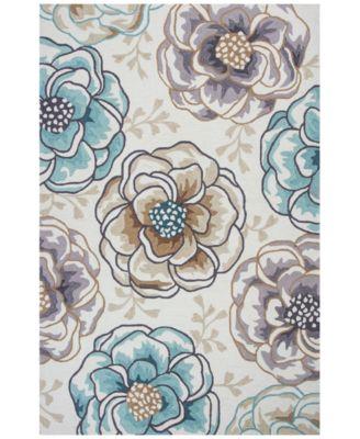 CLOSEOUT! Sonesta Floral Vines 2041 Ivory/Beige 3'3