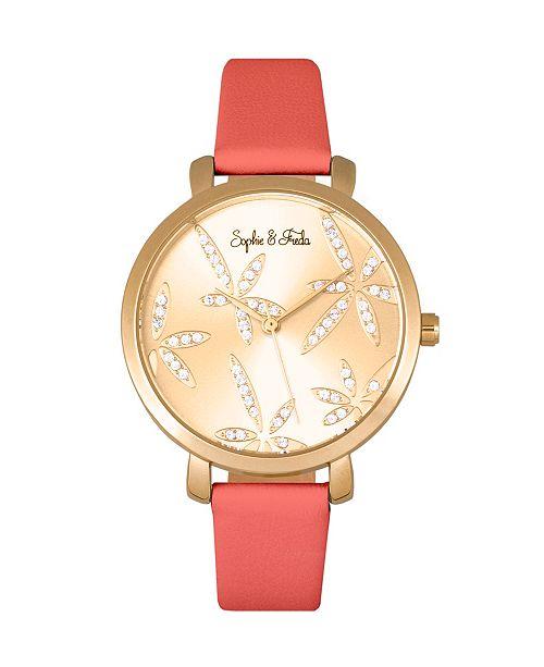 Sophie and Freda Quartz Key West Genuine Leather Watches 35mm