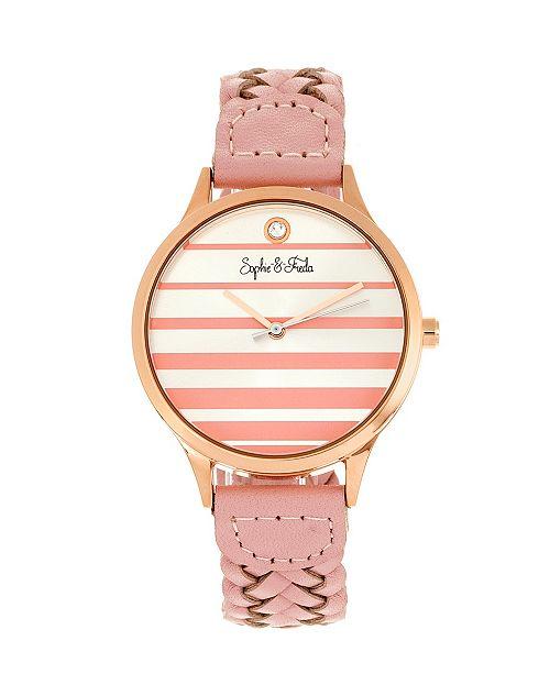 Sophie and Freda Quartz Tucson Genuine Leather Watches 36mm