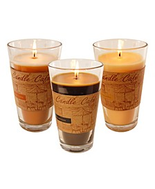 Lumabase Set of 3, 11Oz Coffee Scented Candles in Take Out Holders