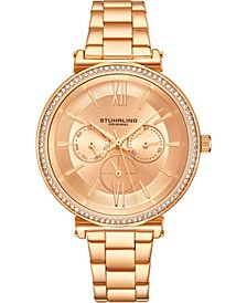 Original Women's Multi-Function, Gold-Tone Case and Bracelet, Gold Dial Watch