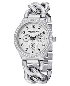 Stuhrling Original Stainless Steel Case on Chain Bracelet Watch