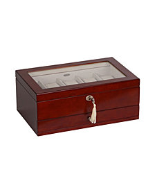 Mele & Co. Christo Glass Top Wooden Watch Box