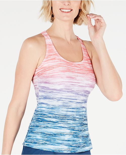 GO by Gossip Ombré Sky Printed Tankini Top
