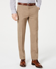 Lauren Ralph Lauren Men's Classic-Fit UltraFlex Stretch Light Brown Textured Suit Pants