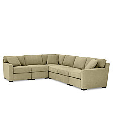 Radley 5-Pc. Fabric Sectional Sofa with Apartment Sofa with Corner Piece - Custom Colors, Created for Macy's