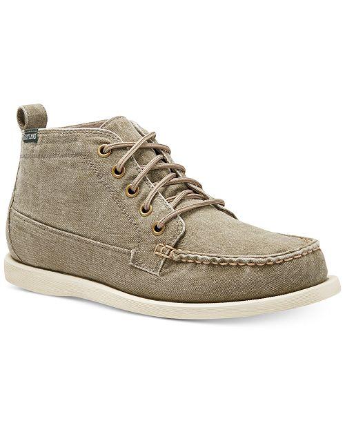 Eastland Shoe Men's Olive Canvas Seneca Chukka Boots
