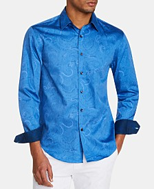 Tallia Men's Slim-Fit Paisley Shirt