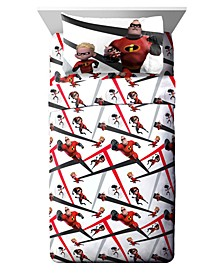 The Incredibles 3 Piece Twin Sheet Set