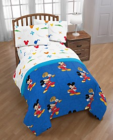 Disney Junior Mickey Mouse Roadster Racer Trophy Reversible Twin Comforter