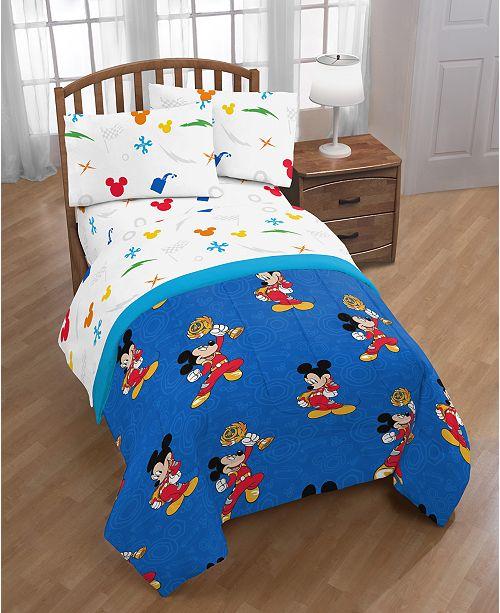 Disney Junior Mickey Mouse Roadster Racer Trophy Reversible Twin Comforter