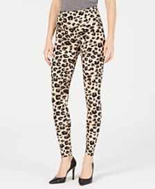 I.N.C. Shaping Printed Leggings, Created for Macy's