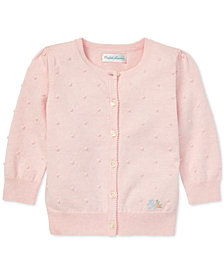 Polo Ralph Lauren Baby Girls Scalloped Cotton Cardigan