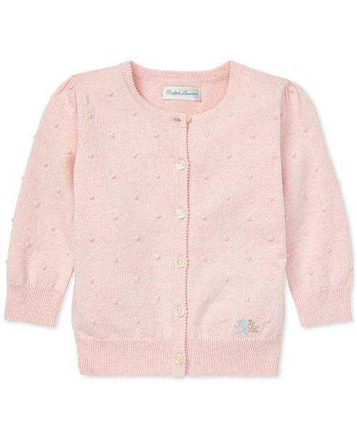 85d2b5c36 Polo Ralph Lauren Baby Girls Scalloped Cotton Cardigan   Reviews ...