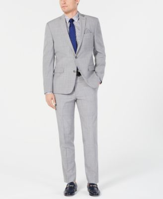 Men's Slim-Fit Stretch Light Gray Suit Jacket, Created for Macy's