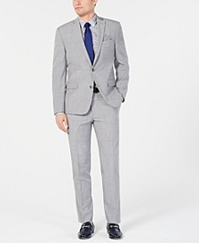 Men's Slim-Fit Stretch Light Gray Suit Separates, Created for Macy's