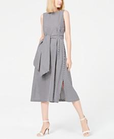 Anne Klein Gingham Midi Dress