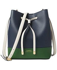 Lauren Ralph Lauren Dryden Debby II Leather Drawstring Bag