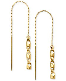Michael Kors Sterling Silver Link Threader Earrings