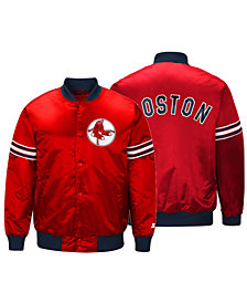 Starter Men's Boston Red Sox Coop Veteran Satin Jacket