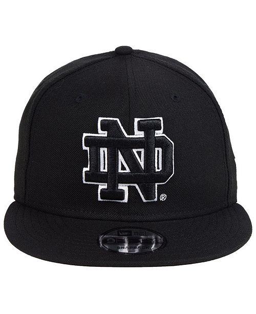 c3fff1b236b New Era Notre Dame Fighting Irish Black White Fashion 9FIFTY Snapback Cap -  Sports Fan Shop By Lids - Men - Macy s