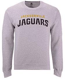 Authentic NFL Apparel Men's Jacksonville Jaguars Gunslinger Crew Neck Sweatshirt