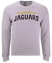 Authentic NFL Apparel Men s Jacksonville Jaguars Gunslinger Crew Neck  Sweatshirt 4c2305e1c