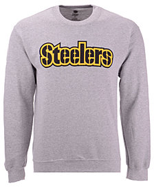 Authentic NFL Apparel Men's Pittsburgh Steelers Gunslinger Crew Neck Sweatshirt