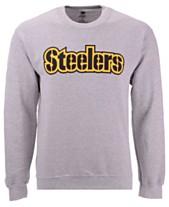 Authentic NFL Apparel Men s Pittsburgh Steelers Gunslinger Crew Neck  Sweatshirt 01e243d82