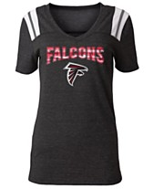 5th   Ocean Women s Atlanta Falcons Shoulder Stripe Foil T-Shirt 71130ca09