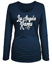 5th   Ocean Women s Los Angeles Rams Long Sleeve Triblend Foil T-Shirt 95b4c59ec