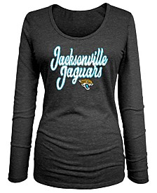 5th & Ocean Women's Jacksonville Jaguars Long Sleeve Triblend Foil T-Shirt